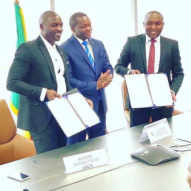 Akon city une ville futuriste au Sénégal